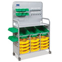 Click here for more Callero Makerspace Silver Cart Set by Gratnells by Worthington