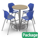 Click here for more Bar Height Café Table & Apex Stool Packages by Marco Group by Worthington