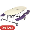 Empire Mobile Bench School Cafeteria Table by Amtab