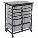 Click here for more Mobile Double Row Bin Storage Unit by Luxor by Worthington