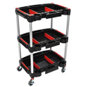 Click here for more Mechanic's 3-Shelf Utility Carts by Luxor by Worthington