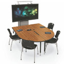 MediaSpace Large Multimedia Table by Mooreco