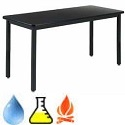 Epoxy Resin Metal Frame Science Tables by Diversified