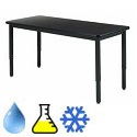 Adjustable Height Phenolic Resin Metal Frame Science Tables by Diversified