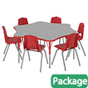 Click here for more 6-Star Activity Table & Chair Package Set by Marco Group by Worthington