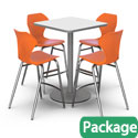 Click here for more Bar Height Dry Erase Café Table & Apex Stool Packages by Marco Group by Worthington