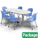Dual Base Dry Erase Table & Chair Packages by Marco Group