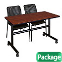 Kobe Flip Top Training Table & Mario Chairs by Regency