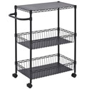 Click here for more Mobile Wire Basket Push Cart by Sandusky Lee by Worthington