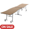 Wave Top Mobile Cafeteria Tables by Amtab