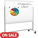 Visionary Move Mobile Magnetic Glass Whiteboard by Best-Rite