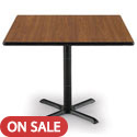 Click here for more Mode Square Counter Height Cafe Table w/ Black X-Base by KFI by Worthington