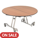 Mobile Cafeteria T- Leg Tables by Amtab