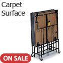Deluxe Mobile Portable Stages with Carpet Surface by Midwest