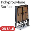 Deluxe Mobile Portable Stages with Polypropylene Surface by Midwest
