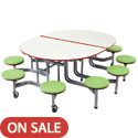 Mobile Stool Table w/ Oval Top by Amtab