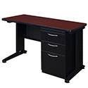 Fusion Single Pedestal Desk by Regency