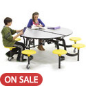 Mobile Stool Table w/ Round Top by Amtab
