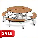 Oval Mobile Bench Table by Virco