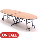 Mobile Empire Oval School Cafeteria Tables by Amtab