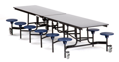 Click here for more Mobile Stool Cafeteria Tables - Black Frame by NPS by Worthington