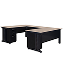 "Fusion Double Pedestal ""U"" Desk by Regency"