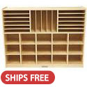 Birch Multi-Section Storage Cabinet by ECR4Kids