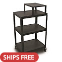 Click here for more Spartan Series Steel AV Carts w/ Expansion Shelf by Marvel by Worthington