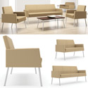Mystic Lounge Panel Arm Series Seating by Lesro