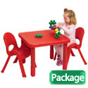 MyValue Set 2 Preschool Plastic Table & Chair Set by Angeles