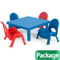 Click here for more MyValue Set 4 Preschool and Toddler Plastic Table & Chair Set by Angeles by Worthington