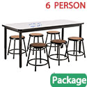 Click here for more Dry Erase Height Adjustable Table & Black Stool Package by National Public Seating by Worthington