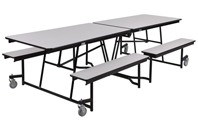Mobile Bench Cafeteria Tables - Chrome Frame by NPS