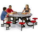 Round Stool Cafeteria Tables by Midwest