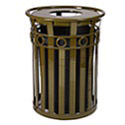 Oakley Collection Decorative Slatted Receptacles by Witt Industries