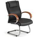 Click here for more Apex Series Leather Guest Chair with Wood Accents by OFM by Worthington