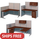 Click here for more Office in an Hour Cubicle Stations by Bush Business Furniture by Worthington