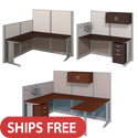 Office in an Hour Cubicle Stations by Bush Business Furniture