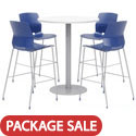Click here for more Mode Bar Height Cafe Table with Lola Barstools by Olio Designs by Worthington