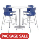 Click here for more Mode Bar Height Square Cafe Table with Lola Barstools by Olio Designs by Worthington