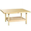 Wooden Four Station Student Workbench Table by Shain