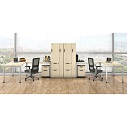 Click here for more Variant L-Shaped Desk Suite with Wardrobe Storage by OfficeSource by Worthington