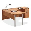 Click here for more OS Laminate L-Shaped Arc Desk by OfficeSource by Worthington