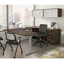 Click here for more Standing Desk U-Shaped Suite by OfficeSource by Worthington