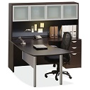 Click here for more OS Laminate Vector Desk with Hutch by OfficeSource by Worthington