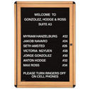 Ovation Wood Look Enclosed Letter Boards by Ghent