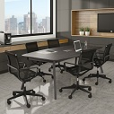 Click here for more Sienna Boat Shape Conference Table by OfficeSource by Worthington