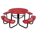 Budget Saver Round Outdoor Picnic Tables by Caprock Furniture