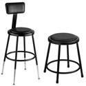 Click here for more Black Padded Science Lab Stools by National Public Seating by Worthington