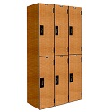 "Click here for more Versamax Phenolic Double-Tier 3-Wide Lockers (36"" H Opening) by Hallowell by Worthington"